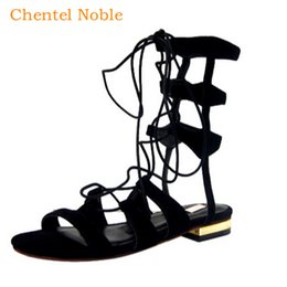 cage heels 2020 - 2019 Chentel Sexy Rope Fastening Sandals Lace-up Cage Shoes Rome Ladies Dress Celebrity Braided Heel Sandals Summer Blac
