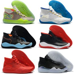 new style d474d 03b1c Kd Low Top Basketball Shoes Australia - Top Kevin Durant 12 KD XII The Day  One