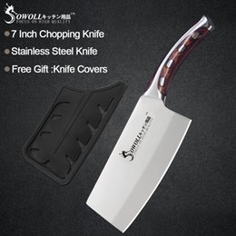 $enCountryForm.capitalKeyWord Australia - Sowoll Kitchen Knife 7 inch Japanese Chef Knife Non Slip Resin Fibre Handle Quality Stainless Steel Clever Cutter Chopping Knife