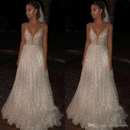 Sparkle Low Back Prom Dress Australia - Sparkle Sequined Long Evening Gowns Prom Dresses 2019 Deep V Neck Sexy Low Back Long Cheap Pageant Special Occasion Dress