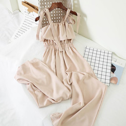 $enCountryForm.capitalKeyWord Australia - Fashion Sexy Chiffon Off Shoulder Wide Leg Jumpsuits Women Casual Khaki Playsuit Long Romper Female Party Jumpsuits