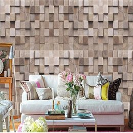 wood grain stickers NZ - custom size 3d photo wallpaper living room mural European retro wood grain 3d picture sofa TV backdrop wallpaper non-woven wall sticker