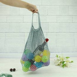 $enCountryForm.capitalKeyWord Australia - 2019 New Mesh Net Shopping Bag Reusable Foldable Cotton Fruit Grocery Shopper Women Shoulder Bag Tote Case