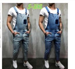 1f5898000f13 Hot Sales Men s Vintage Jeans Jumpsuits Fashion Distressed Denim Bib  Overalls Male Suspender Pants New Men Casual Jeans Rompers