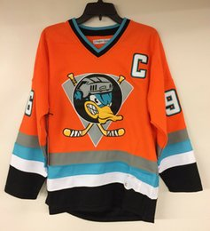 charlie conway ducks jersey Australia - Rare Vintage Charlie Conway Mighty Ducks #96 Movie Hockey Jersey Embroidery Stitched Customize any number and name Jerseys