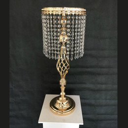 Party Decorations Tables Australia - 70cm Rhinestone Candelabra Wedding Party Elegant Candle Holder Pretty Table Centerpiece Vase Stand Crystal Candlestick Wedding Decoration
