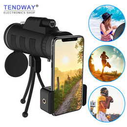 $enCountryForm.capitalKeyWord Australia - Tendway Phone Camera Lens Telescope For Moblie Zoom Lens For Smartphone Macro Lens For Iphone With Compass Phone Clip Tripod J190704
