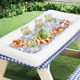 Inflation Salad Plate Inflatable Party Cooler Outdoor Swimming Ices Trough 134X64 PVC Collapsible White Hot Sales 12 8fy C1 on Sale