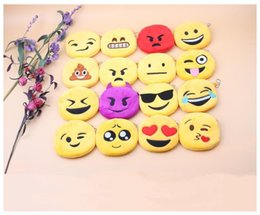 $enCountryForm.capitalKeyWord Australia - New Hot QQ expression Coin Purses cute emoji Zipper Coin bag plush pendant High quality free shipping