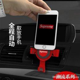 Ingrosso Universale antiscivolo Car Holder Telefono Aria Zoccoli clip del morsetto Cellulare basamento registrabile GPS Staffa di designazione Strumenti