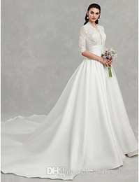 elegant french wedding dresses Australia - Lace Wedding Ball Gown New Design Wedding Dress Bridal Gowns Long train French elegant wedding Bridal dresses Hand Made High quality