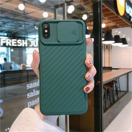 hot sales iphone case Australia - New Iphone Case Applicable Lens Sliding IPhone11Pro Max Apple XS Silicone Soft Shell Protective Shell All-inclusive Camera hot sale