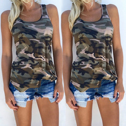 camouflage blouses women NZ - New Summer Shirt Women Sexy Backless Camouflage Crochet Halter Crop Tank Tops Blusas Fitness Slim Blouse Vest Shirts