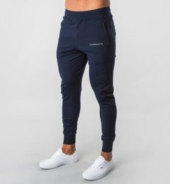 Mens Alphalete Jogger Sweatpants Man Gyms Workout Fitness Cotton Trousers Male Casual Fashion Skinny Track Pants