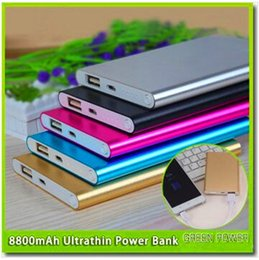 dhl battery power bank NZ - DHL Ultra thin slim powerbank 8800mAh Ultrathin power bank for mobile phone Tablet PC External battery