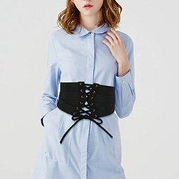 $enCountryForm.capitalKeyWord Australia - Sexy Women's Lace-up Cinch Belt PU Leather cummerbunds Elastic Stretch Wide Band Waspie Corset body Waist shape Belt