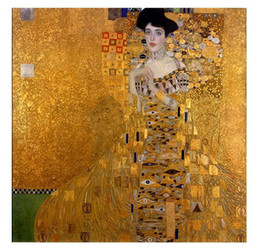 $enCountryForm.capitalKeyWord NZ - Framed Handpainted Classical Abstract Art Oil Painting Gustav Klimt - Female Portrait of Adele Bloch-Bauer I On Canvas.wall Art Home p252