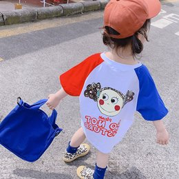 Super girl Shirt online shopping - Girls Dresses Summer Dresses New Summer Korean Version Super Foreign Princess Skirt T shirt Skirt for Girls and Babies