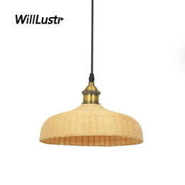 China Southeast Asia Style Bamboo Pendant Lamp Restaurant Hotel Lounge Dining Room Bedroom Pastoral Hand Knitted Suspension Hanging Lighting supplier kitchen lounge suppliers