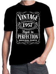 $enCountryForm.capitalKeyWord Australia - Best Selling Male Natural Cotton Shirt Cotton O-Neck Perfection 1957 60 Years Old Gift Present Short-Sleeve Mens Shirts