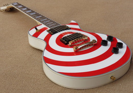 $enCountryForm.capitalKeyWord Australia - Custom Shop Zakk Wylde Red bullseye White Electric Guitar Black Speed Knobs, White Pearl Block Inlay, Copy EMG Pickups, Golden Hardware
