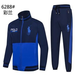 Horse Suit NZ - 2018 Men's Hoodies POLO Sweatshirts Sportswear Man Polo Jacket pants Jogging Jogger Sets Sports Big horse Tracksuits Sweat Suits 0712