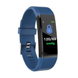 phone bracelets UK - 115 plus Smart Wristbands Color Screen For iPhone IOS and Android Smart Mobile Phone Wearable Bracelets Heart Rate Touch Operation Clock