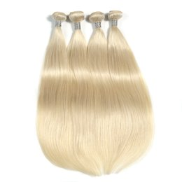 Platinum Product online shopping - The New Product Platinum Blonde Color Straight Hair Bundles Inchs Brazilian Human Hair Weave Bundles a Unprocessed Double Weft Hair