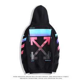 Vente en gros 2019 nouveau design OFW flèche noir rendu pull de haute qualité casual mode tendance marque chandail luxe couple hip hop rue hoodie