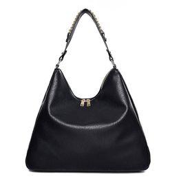 Black Soft Leather Hobo Bag Australia - good quality Women Bag Soft Leather Handbag Women Famous Brands 2019 Black Hobos Shoulder Bags Female Casual Tote Big Bag Woman Sac A874