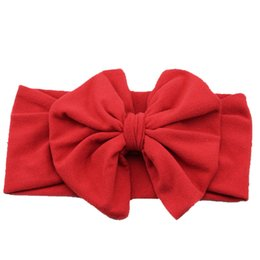 Wholesale Baby Girl Headband Bow Big Bowknot Children Kids Head Wraps Newborn Hair Accessories Bandeau Cheveux
