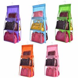 Foldable hangers online shopping - Nosii Double Side Transparent Pocket Foldable Hanging Handbag Purse Storage Bag Sundry Tidy Organizer Wardrobe Closet Hanger