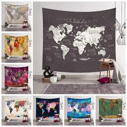 12 Towel Australia - 12 Styles World Map Printed Tapestry Wall Hanging Home Decor Beach Towel Yoga Mat Shawl Picnic Mats Home Decor CCA11524 30pcs