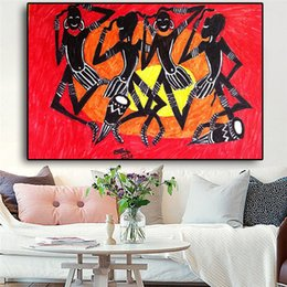 african canvas prints NZ - Black Abstract African American Portrait Painting Sunshine Posters and Prints Canvas Art Cuadros Wall Picture No Framed