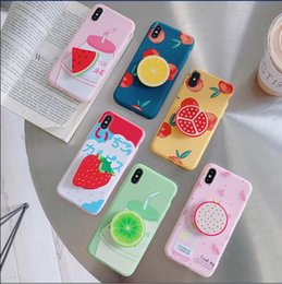 Plastic Fruit Green Apples NZ - Summer colorful fruit mobile phone shell: apple 7 watermelon strawberry pomegranate TPU drip proof