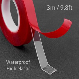 $enCountryForm.capitalKeyWord Australia - 300cm Transparent Silicone Double Sided Tape Sticker For Car High Strength High Strength No Traces Adhesive Sticker Living Goods