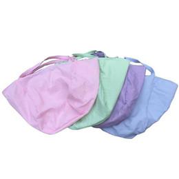 Fabric beach bag online shopping - Sandy Beach HOBO Bag Stripe Seersucker Big Shoulder Bags Women Round Handbag Polyester Fiber Blue Green fg C1