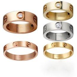 Titanium сталь серебро розовое золото Любовь кольцо золото кольцо пара любителей кольцо Женщина и мужчина подарок любовь
