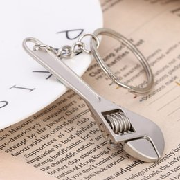 Wrenches Tool Key Chains Australia - Wrench KeychainZinc Alloy key Ring High-grade Simulation Spanner Key Chain keyring Tools Novelty Gift
