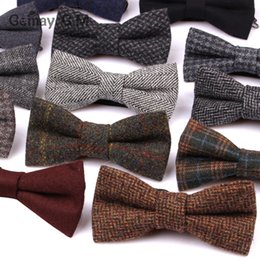 $enCountryForm.capitalKeyWord Australia - New Wool Bow Ties For Men Cravats Fashion Adjustable Bowtie For Wedding Party Butterfly Adult Bowties