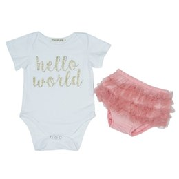 AmericA tutu online shopping - Baby Clothes Triangle Romper Folding Maternity Cotton Europe America Kids Short Sleeve Siamese Clothes Two Piece Suit Folding