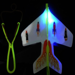slingshot light toy NZ - 3 pcsNew Slingshot LED Light Flare Catapult Airplane Glider Plastic Toy for Children Outdoor Funny Toys Gifts Flying Kids Toy