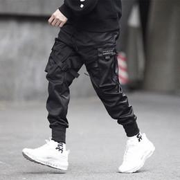 $enCountryForm.capitalKeyWord Canada - Men Ribbons Color Block Black Pocket Cargo Pants 2019 Harem Joggers Harajuku Sweatpant Hip Hop Trousers