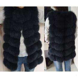 Women s formal vest online shopping - Waistcoat Short sleeveless Vestwoman winter warm Natural Vest Real Jacket Fox Fur Coats Y190916