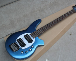 Metal String Guitars Australia - Free ShippingFactory Custom Metal Blue 5-String Electric Bass Guitar with Rosewood Fretboard,Chrome Hardwares,Active Circuit,Offer Customize