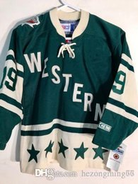6b2e1833d All-Star West 19 Joe Sakic green Hockey Jersey Embroidery Stitched  Customize any number and name College Jerseys