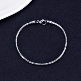 $enCountryForm.capitalKeyWord Australia - Hot Sale 316L Stainless Steel 3MM 4MM Snake Chain Bracelet Fashion Jewelry for Men and Women Christmas Gifts pulseras