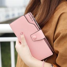 Korean bag bucKle online shopping - HUGWISER New Women s Wallet and Girl s Long Zipper Wallet Korean Version Women s Buckle Handbag Multifunctional Mobile Bag