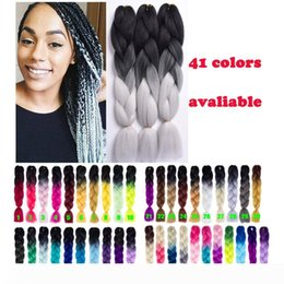 xpression kanekalon braiding hair ombre Australia - A Xpression Ombre Braiding Hair Kanekalon Light Gray Braiding Hair 24''100g Synthetic Braiding hari Bulk Braids Ombre