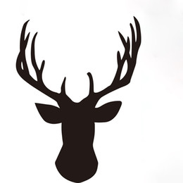 Cartoon Deer Head Australia - ntlers deer head sticker decal truck rack bull elk hunt window hunter Handsome And Cool Stickers